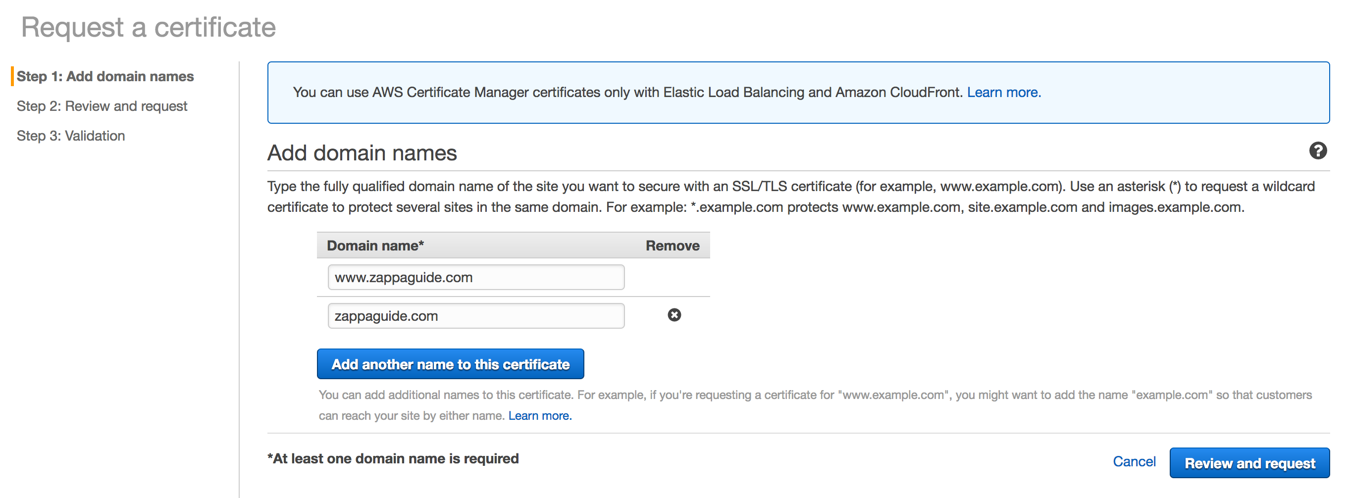 Aws credential manager acm guide to using django with zappa request a certificate xflitez Image collections